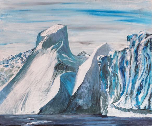 Grönland 2017 Eisberg 1, Acryl, Leinwand