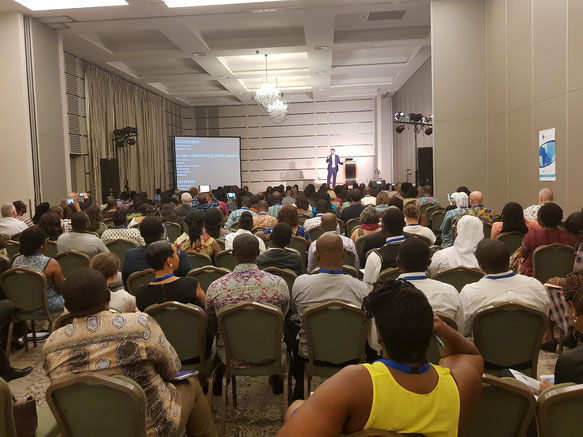 Accra, Ghana. Keynote at the International Baccalaureate's African Education Festival, October 2018