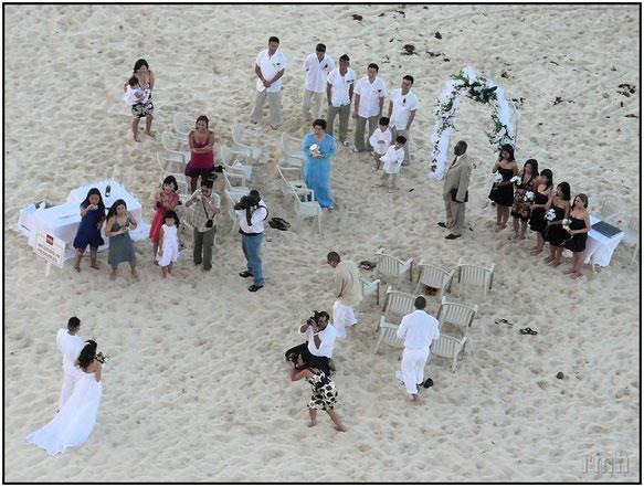 Wedding on the beach, Paradise Island, Bahamas