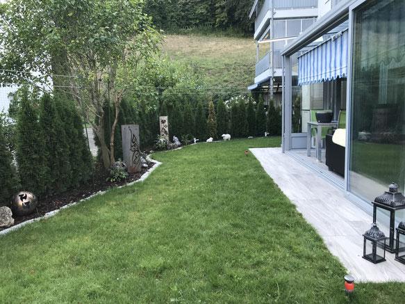 gesicherter Garten