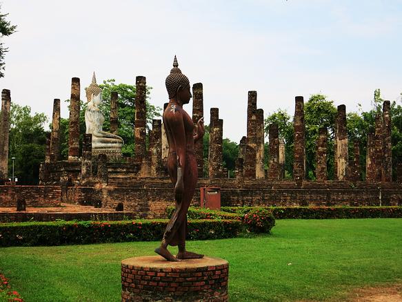 Blick auf den Wat Sa Si