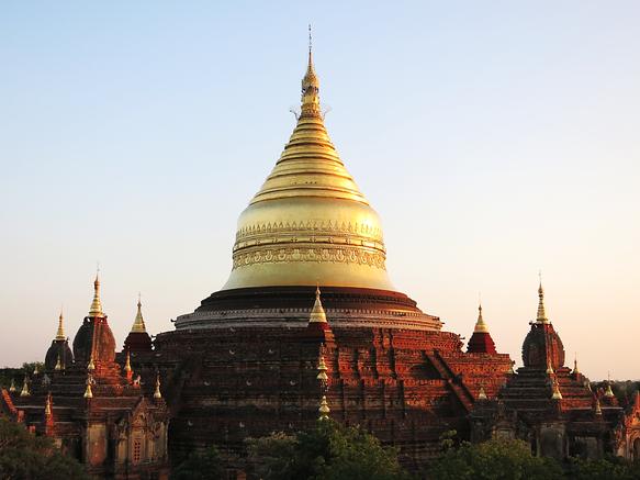 Dhammayazika Tempel in der Nähe von Neu-Bagan