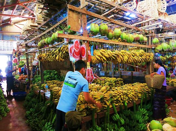 Obst und Gemüse Markt in Pathein