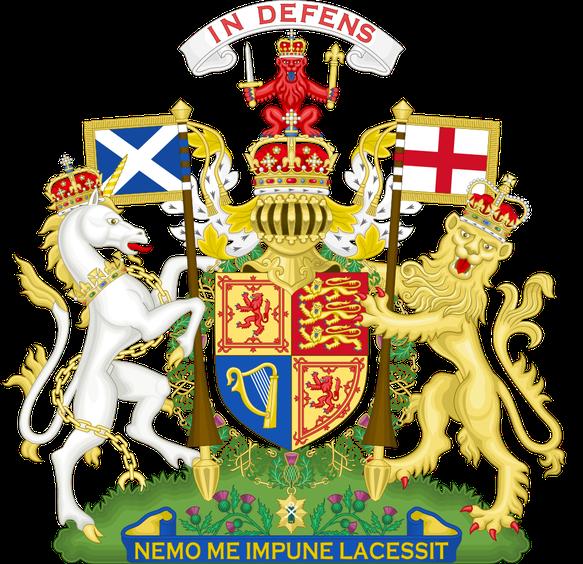 Armoiries du Royaume-Uni (après 1603) telles qu'utilisées en Écosse
