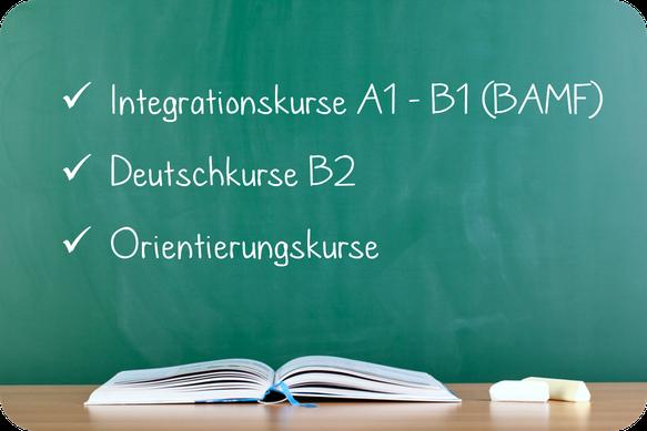 Integrationskurse, Deutschkurse, Orientierungskurse