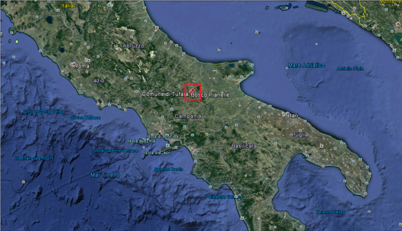 Dans le carré rouge : le site où a été faite la découverte