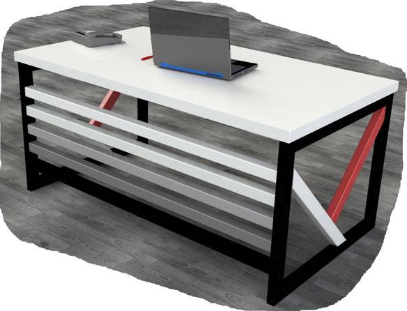 pied de table pour bureau sur-mesure