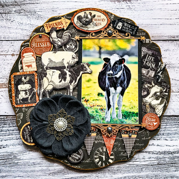 💖ご参加御礼❣銀座ソレイユ/来年の干支、牛写真で「New Years Plate」を。新年にぜひ飾っていただけたら嬉しいです。写真/Masako撮影2019'ニュージーランドにて。