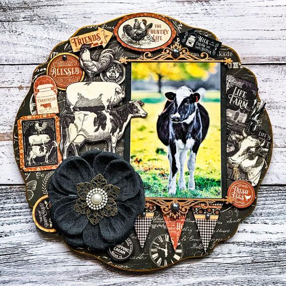 💖11月銀座ソレイユ/ご参加御礼~❣干支の牛写真で「New Years Plate」。新年にぜひ飾っていただけたら嬉しいです。写真/Masako撮影2019'ニュージーランドにて。
