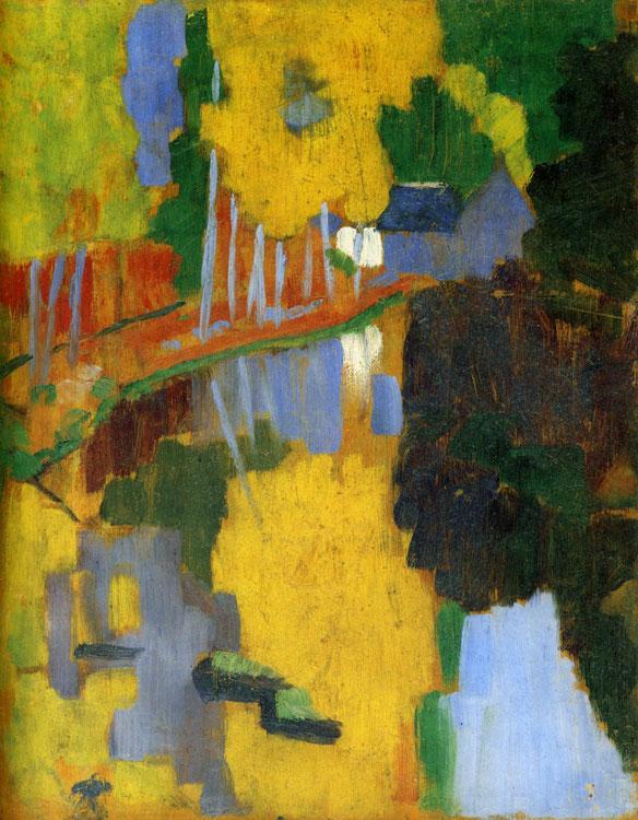 ポール・セリュジエ「タリスマン(護符)、愛の森を流れるアヴェン川」1888年