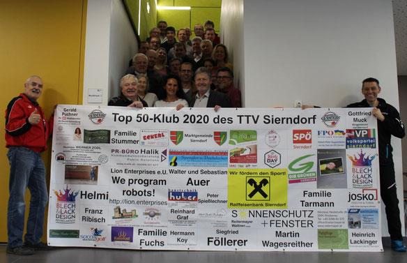 2020 im Februar durften wir viele Top 50-Klub-Mitglieder zur Präsentation des neuen Transparents begrüßen.