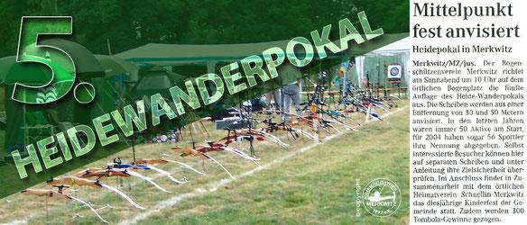 Bogenschützen aus Sachsen-Anhalt feiern den 5. Heidewanderpokal in Merkwitz