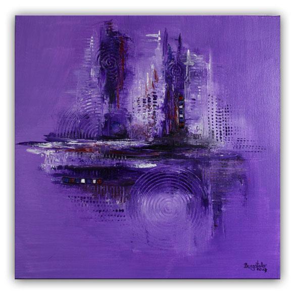 Lila - abstraktes Bild Wandbild handgemalt - abstrakte Kunst Gemälde günstig