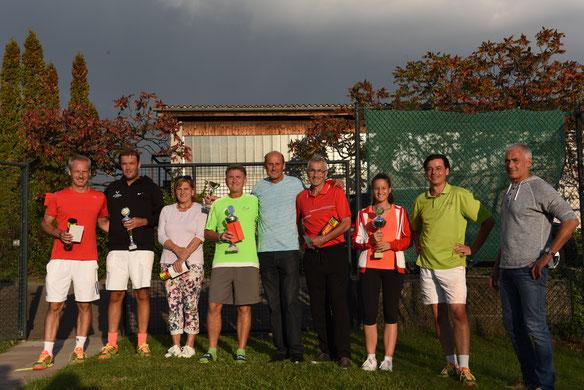 Endspielteilnehmer Hauptrunde 6. LK-TurnierTC Waldshut