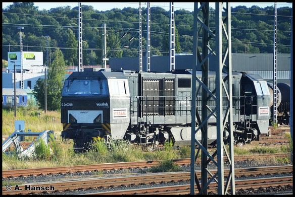 272 407-8 steht am 20. Juli 2015 in Pirna Hbf. Aus dem Zug nach Dresden Hbf. konnte ich einen Schnappschuss anfertigen