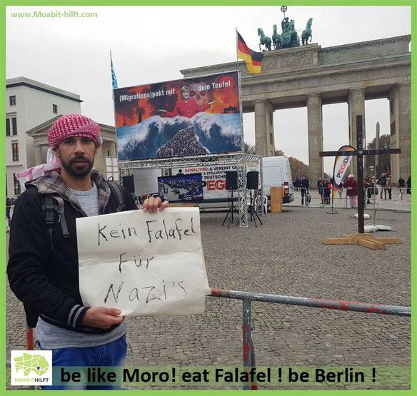 Moro von Moabit hilft war passend zur Stelle, wir freuen uns, dass wir ihn Ihnen vorstellen dürfen <3
