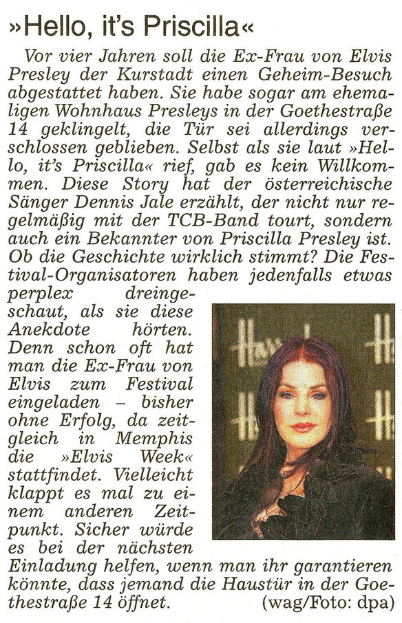 "Bad Nauheim. WZ 22.08.2015 -  Dennis Jale:  ""Hello, it's Priscilla"", Text: wag, Foto: dpa"