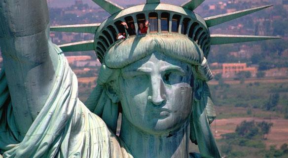Смотровая площадка Статуи Свободы в Нью-Йорке