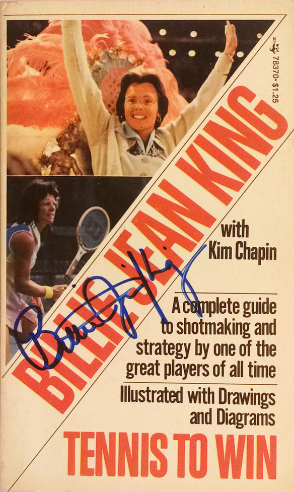 Billie Jean King USA, retired, won 12 Grand Slam Titles, oldest Winner of a Grand Slam Title, Autograph bought