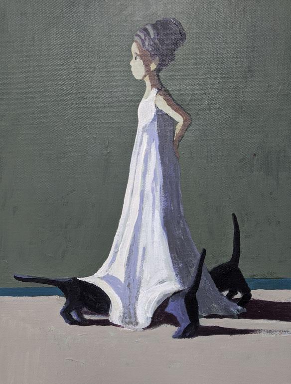 the tomcat-princess - Acryl auf Leinwand, 40x30cm, 2019 | verkauft