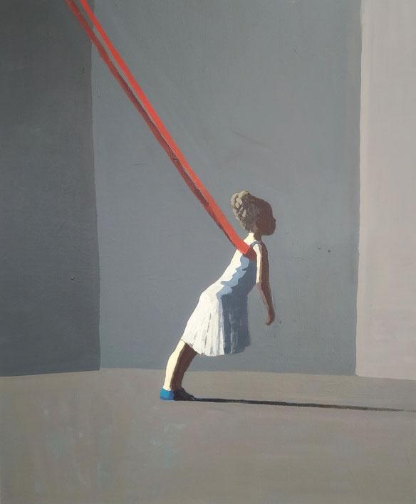 red line - Acryl auf Leinwand, 60x50cm, 2019 | verkauft