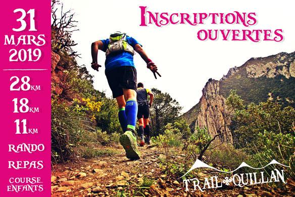 Ouverture des inscriptions - Trail Quillan 2019
