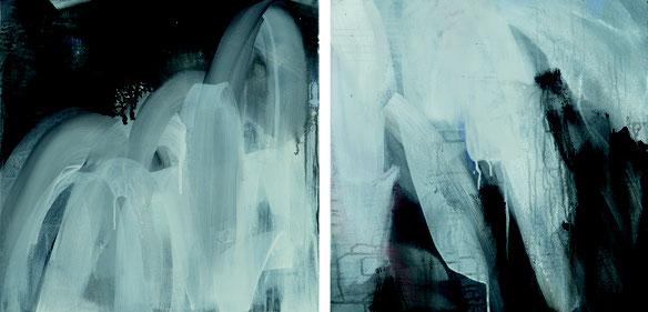 loops 2 und 3, Acryl auf Leinwand, 60x60cm