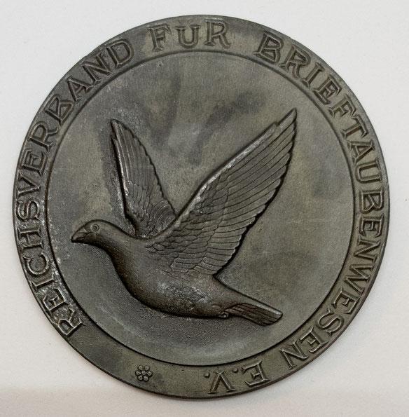 Medaille Brieftaube, Geschichte der Brieftaube, Brieftaubenwesen, Verband Deutscher Brieftaubenzüchter e.V., Reichsverband für Brieftaubenwesen