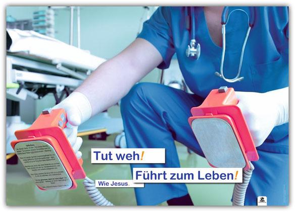 Plakat Jesus Defibrillator A2