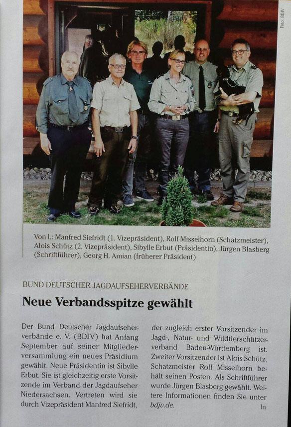 Aktuelles vom: Bund Deutscher Jagdaufseher
