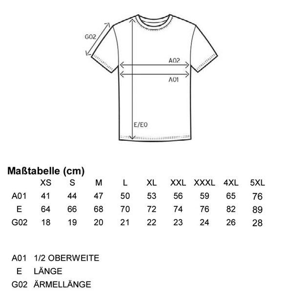 Größentabelle Men´s Fashion Organic-T