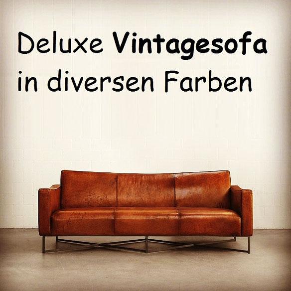 Vintagesofa, Ledersofa, Retrosofa, Buffalo Leder