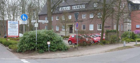 Hier finden Sie unsere Geschäftsstelle (Ochsenzoller Str. 85 / Eingang Hermann-Löns-Weg 9)