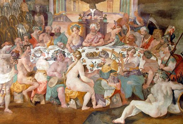 """Andrea Boscoli, """"Convivio degli dei"""", 1592"""