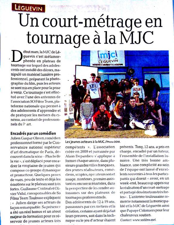 Article paru dans La Dépêche du Midi le 19 mars 2014, publié par Renée Durand.