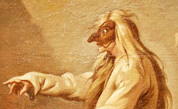 Polichinelle d'après Carle Vanloo, Musée Boucher-de-Perthes, détail / Photo Y. François