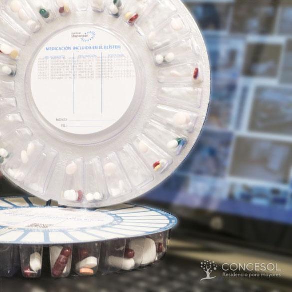 Sistema de medicación automatizado. Con suministro personalizado para cada residente de la Residencia Concesol