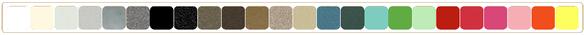 choisissez parmi 17 couleurs, nuancier des couleurs disponible en page Accueil.