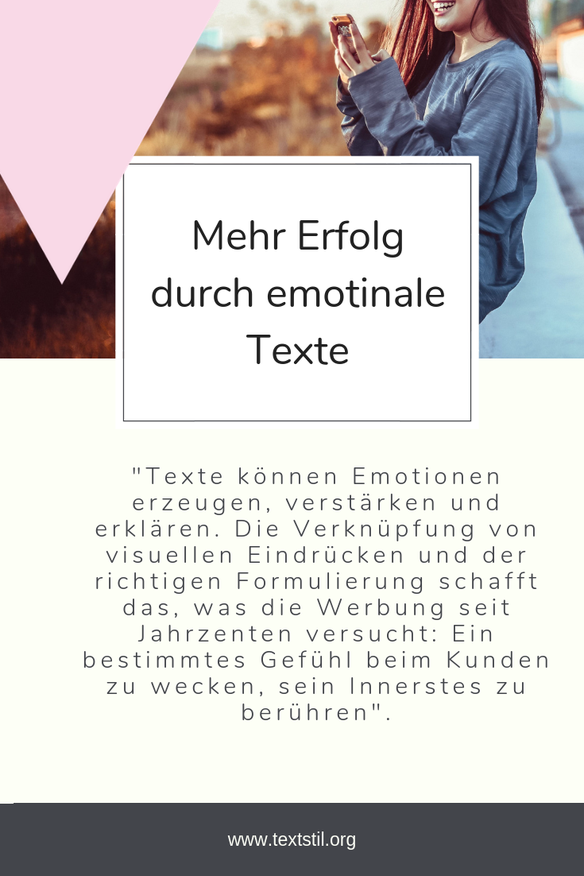 Emotionale Texte Emotionales Marketing Texter