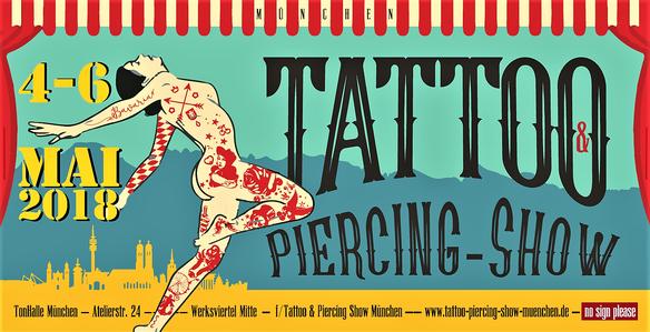 Tattoo & Piercing-Show | Tonhalle München | 4 - 6 Mai 2018