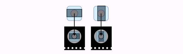Aubau des Bausatz Polarisationsmikroskopie: Filter mit Magnetkopplern verbinden