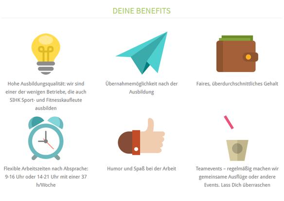 Darstellungsmöglichkeit von Benefits