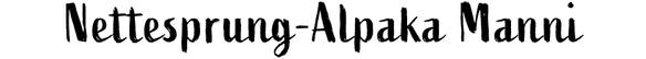 Nettesprung-Alpaka Manni