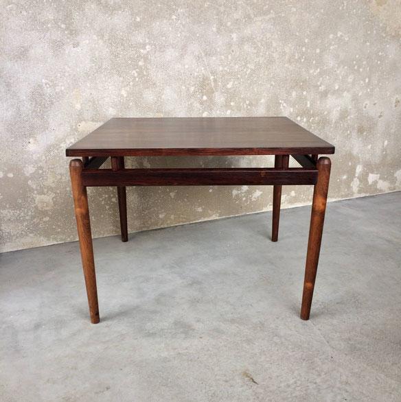 table basse en palissandre, table basse carrée en palissandre