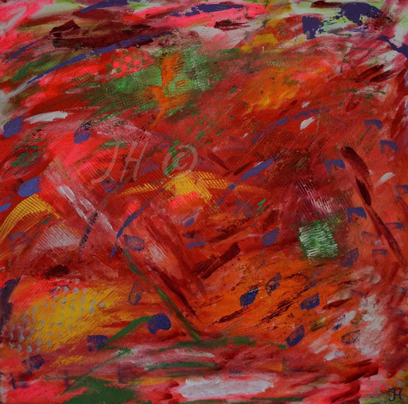 JH2R: Acryl auf Leinwand, Abmessungen [cm]: 100x100x3,5