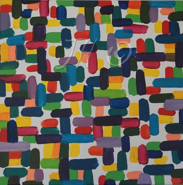 JH8A: Acryl auf Leinwand, Abmessungen [cm]: 70x70x1,5, in Privatsammlung