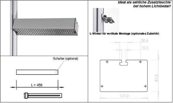 Details Technik LED Systemleuchte