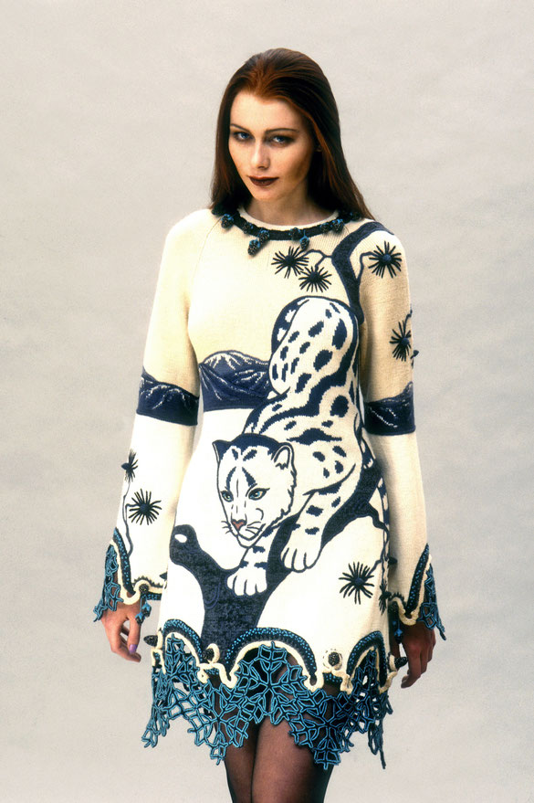"""Alexander Seraphim's knitwear, """"Irbis #2"""", 1997"""