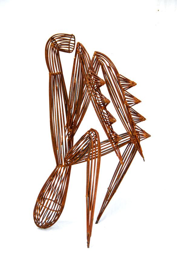 AUTORRETRATO hierro 1,30x50x45cm