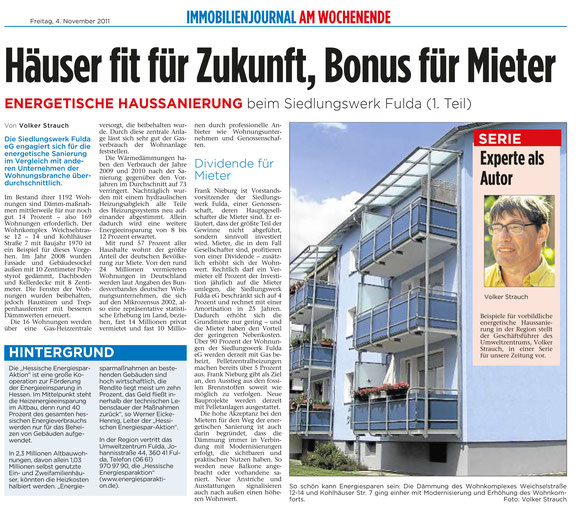 Gute Beispiele energetische Sanierung Fuldaer Zeitung
